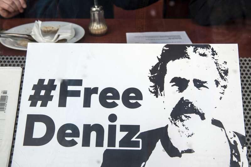 國際特赦組織、無國界記者及歐洲各國民眾都發起行動,要求土耳其政府釋放尤塞爾。(美聯社)