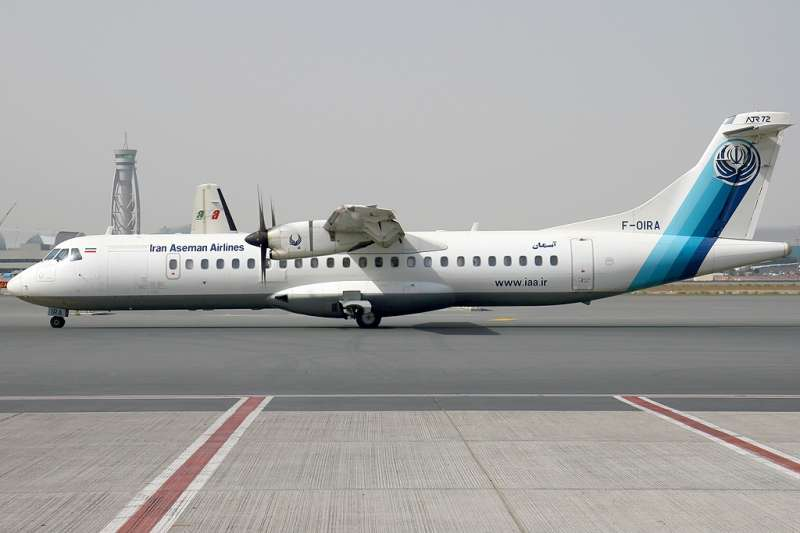 伊朗阿塞曼航空公司(Aseman Airlines)ATR 72雙螺旋槳客機(Konstantin von Wedelstaedt@Wikipedia / GFDL 1.2)