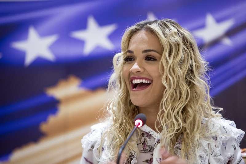 科索沃出生的英國女歌手瑞塔歐拉(Rita Ora)慶祝祖國10歲生日(AP)