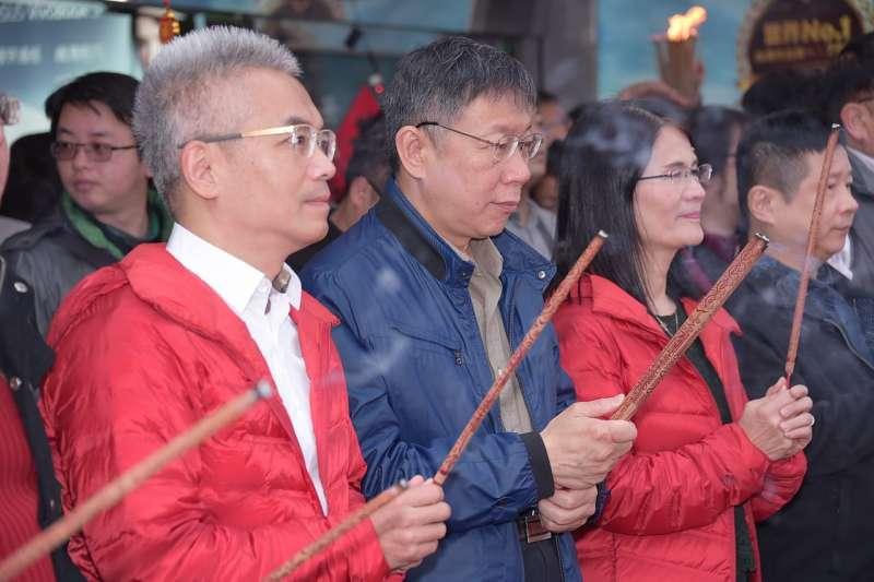 r今(20)是農曆大年初五,也是傳統習俗上的開工日,台北市長柯文哲上午前往光華數位新天地,參加開春團拜活動。(台北市政府提供).jpg