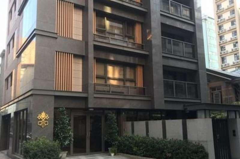 位於台北市區內的教廷大使館。從1971年起,梵方改為代辦來台辦理事務(BBC中文網)