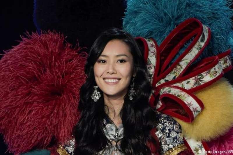 劉雯在2017年「維多利亞的秘密」時裝秀上。(德國之聲)