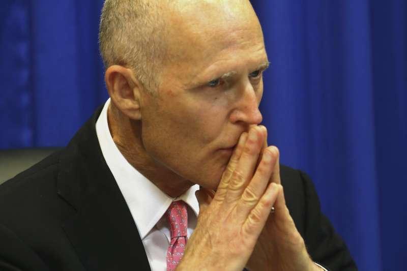 共和黨籍的佛羅里達州州長史考特(AP)