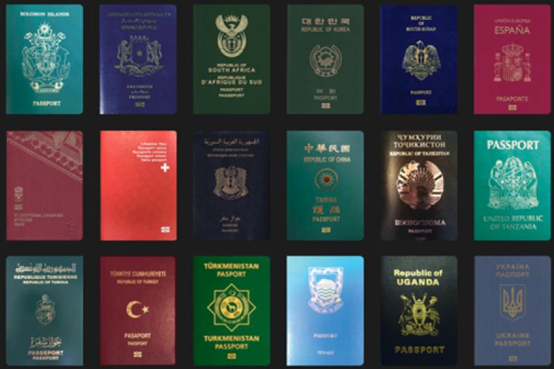 最新全球護照實力度調查顯示,南韓護照首次登上該榜單之冠軍寶座,台灣則和烏克蘭、巴拉圭及委內瑞拉等國並列第32名。(取自passportindex.org)