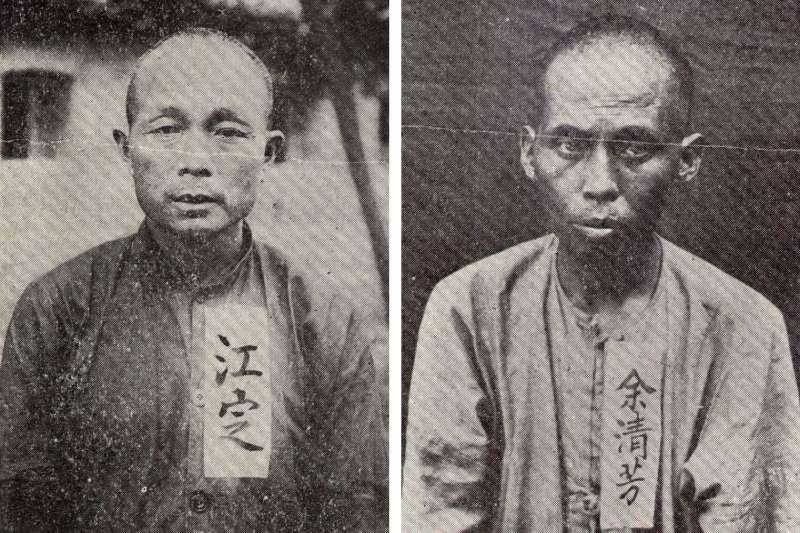 江定(左)為事件中的武力領袖,余清芳(右)則是最主要推動者。(圖/研之有物提供)