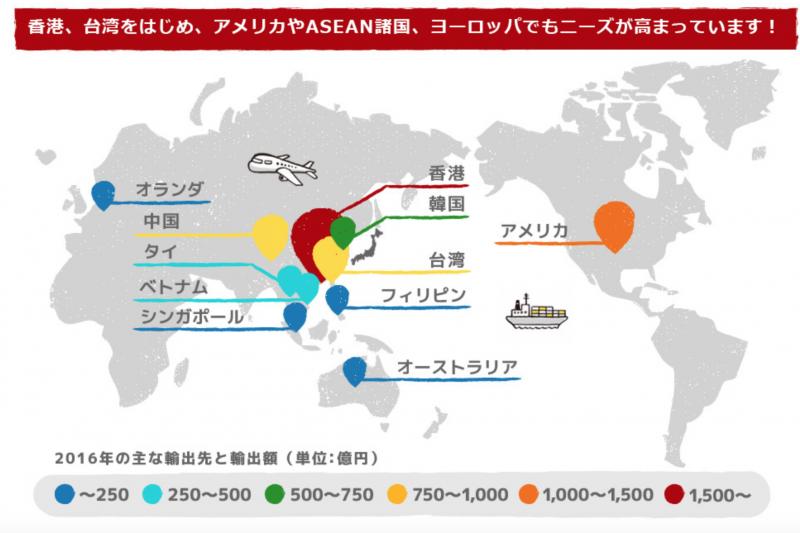 根據日本農林水產省的資料,柬埔寨並非日本主要的輸出國,但這個國家買的和牛卻比任何國家都還要多。(日本農林水產省官網)