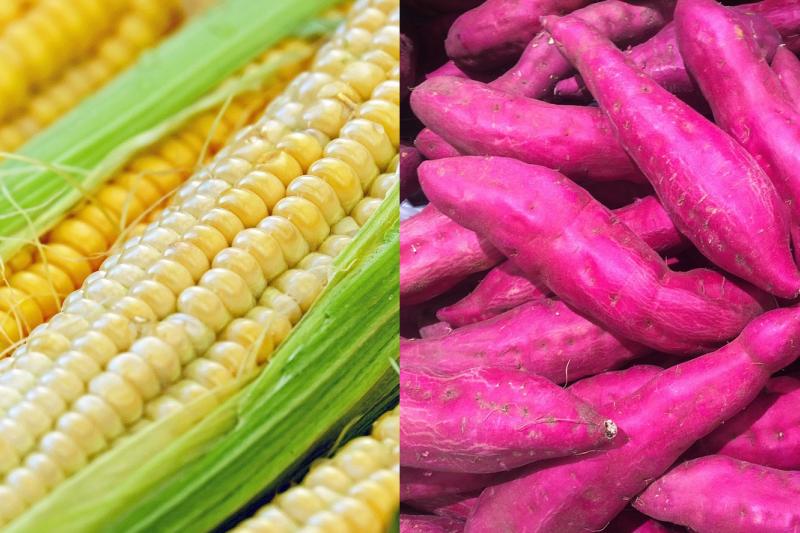 網路盛傳條碼8開頭的食品就是基改作物不該吃,甜玉米、紫地瓜也中槍,食藥署澄清這些全是謠言!(圖/pxhere、pixabay)