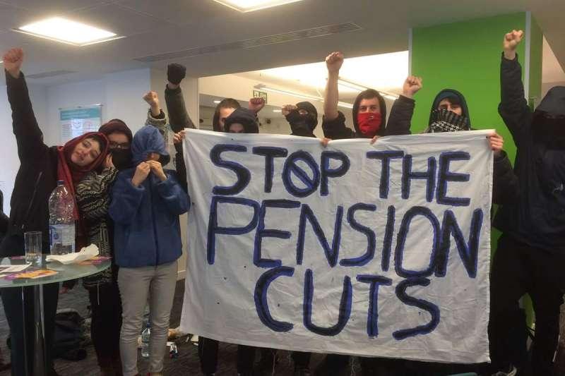 英國大學教師發動大罷課,反對年金改革(Twitter)