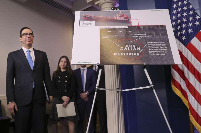 美國財政部長馬努欽宣布「史上最強硬」制裁北韓措施(AP)
