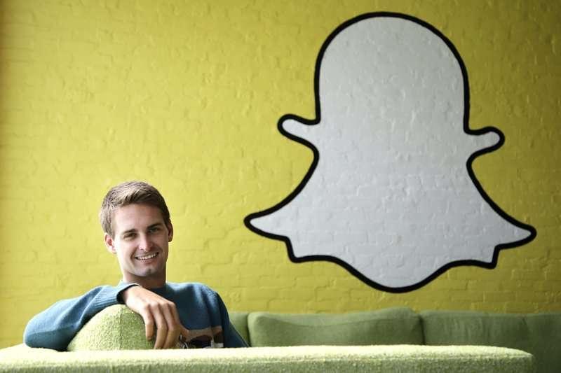 Snapchat執行長暨執行長斯皮格(Evan Spiegel)。(美聯社)