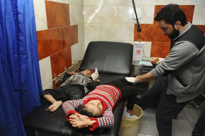 敘利亞內戰:孩童成了戰火下最慘犧牲者(AP)