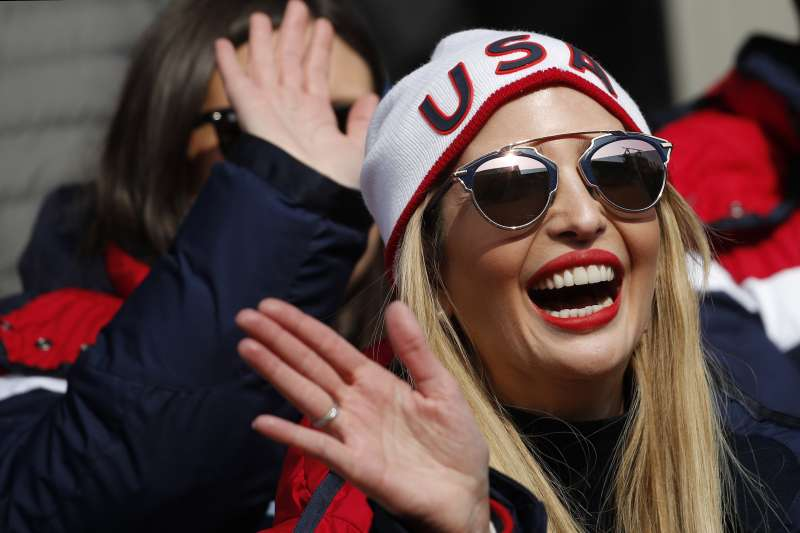 美國總統川普的愛女伊凡卡出席南韓平昌冬奧閉幕式活動(AP)
