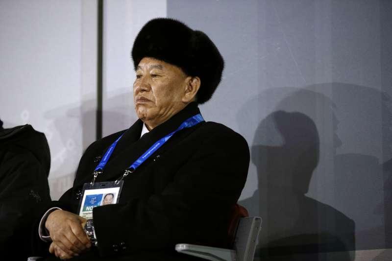 2018年2月25日,平昌冬奧閉幕式,北韓代表金英哲(AP)