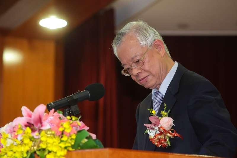 20180226-卸任央行總裁彭淮南26日出席中央銀行新舊任總裁交接典禮。(顏麟宇攝)