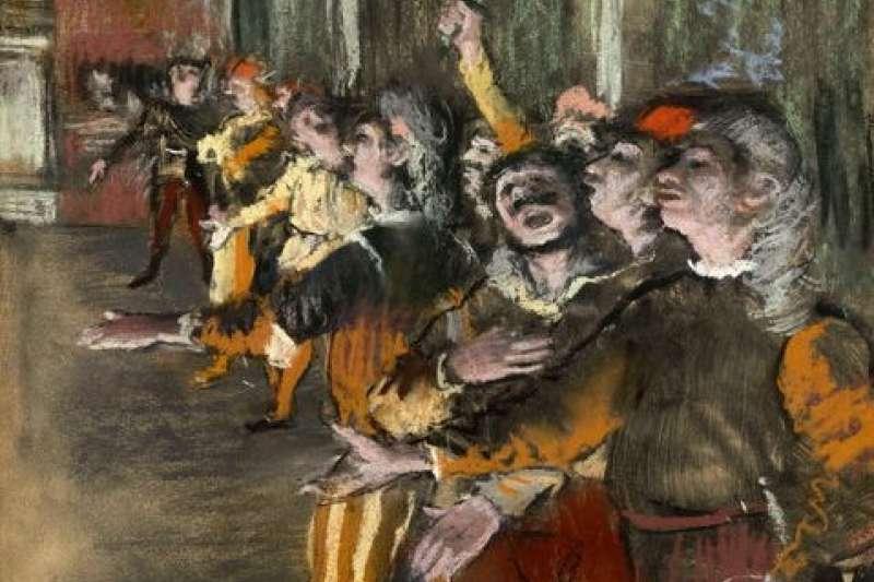 竇加這幅《合唱歌手》已失竊9年,日前竟被法國海關抽查尋獲,這意外的好消息讓美術館非常開心。(圖/wikimedia commons)