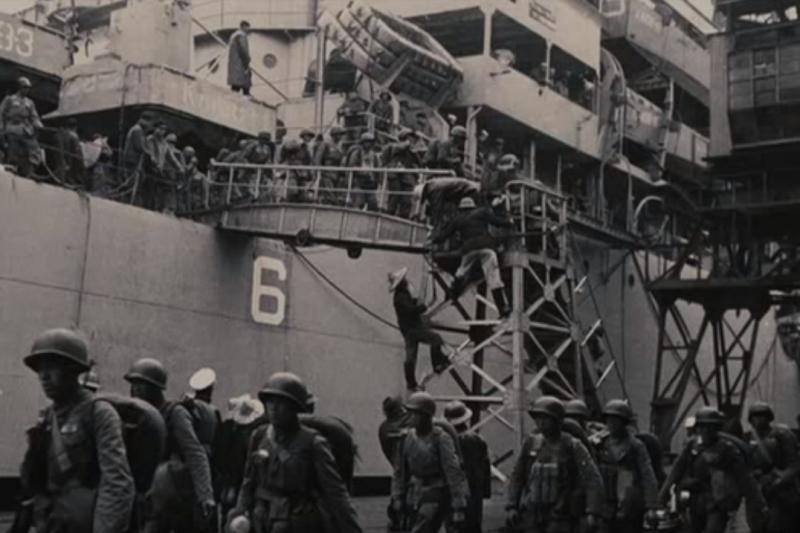 二二八事件時,國民黨軍隊登陸基隆展開「清鄉」。(示意圖/ 心母小福福@youtube)