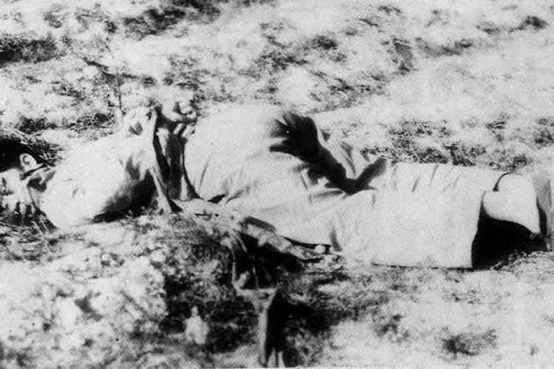 二二八事件,在清鄉行動中遭國軍處決的民眾(圖/wikimedia commons)