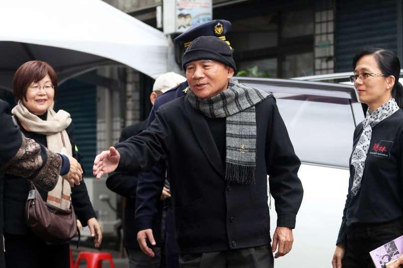20180228-前民進黨主席林義雄和妻子上午參加義光教會追思禮拜。(蘇仲泓攝)