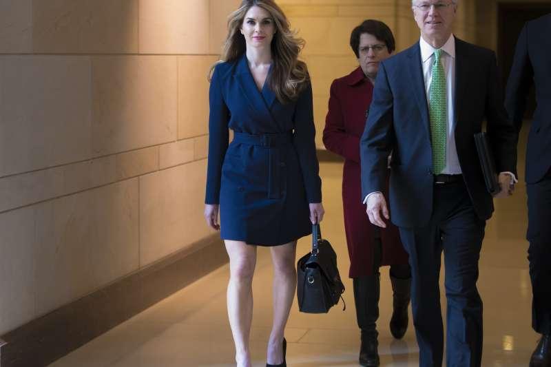 2月27日,白宮公關主任希克斯出席眾議院情報委員會的通俄門調查聽證會(美聯社)