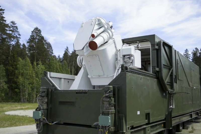 普京1日發表年度演說,公布雷射武器的影片。(AP)
