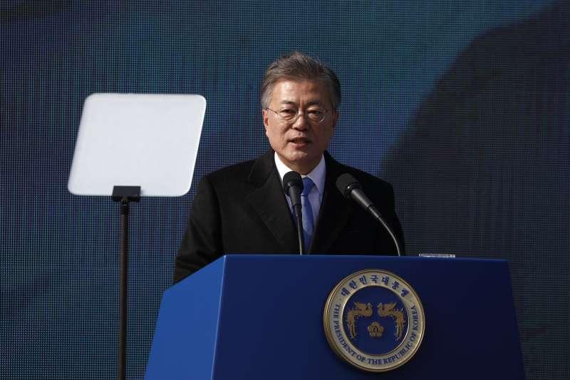 2018年3月1日,南韓各界在首爾西大門刑務所歷史館舉行「紀念三一運動99周年儀式」,文在寅總統發表演說(AP)