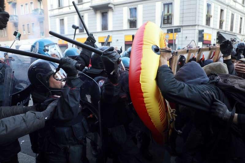 2018年3月義大利國會大選,引發多起激烈衝突(AP)