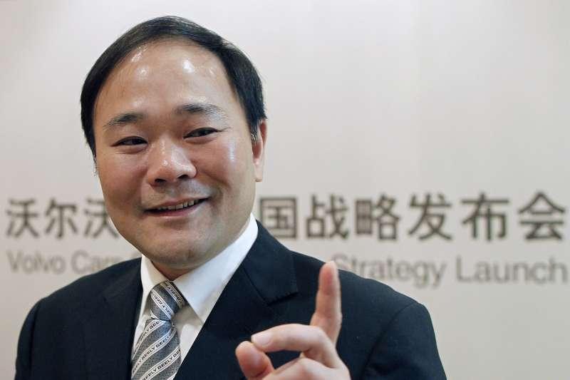 李書福,中國最大民營汽車製造商吉利汽車創辦人兼董事長(AP)