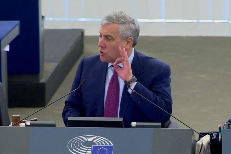 深獲義大利前總理貝魯斯柯尼支持的塔加尼(Antonio Tajani),現為歐洲議會議長。若義大利力量黨獲得組閣權,塔加尼可望成為新科義大利總理。(AP)