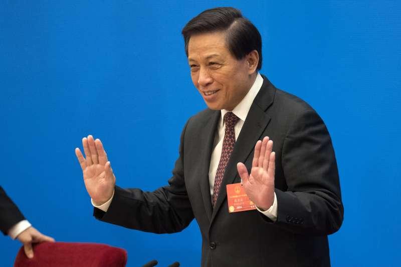 2018年3月4日,中國全國人大發言人張業遂舉行國際記者會(AP)