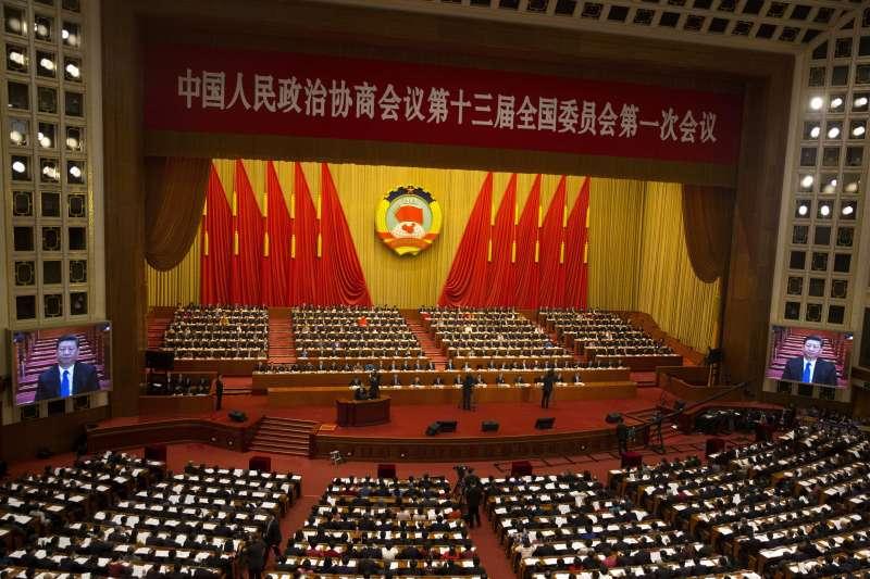2018年中國全國兩會,全國政協十三屆一次會議3月3日率先登場(AP)