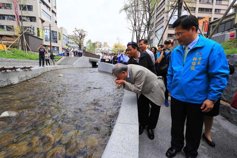 繼新竹縣長邱鏡淳率團了解綠川整治後,台北市長柯文哲也將親赴考察。(台中市政府提供)