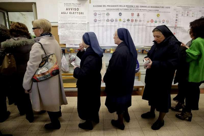義大利國會選舉結果出爐,右翼聯盟與民粹政黨爭搶組閣權(美聯社)