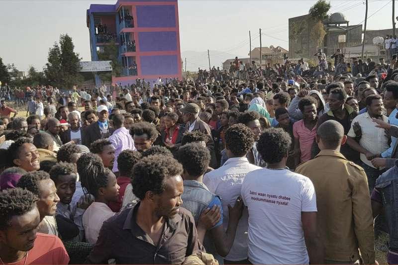 衣索比亞近來再度爆發大規模示威抗議(AP)