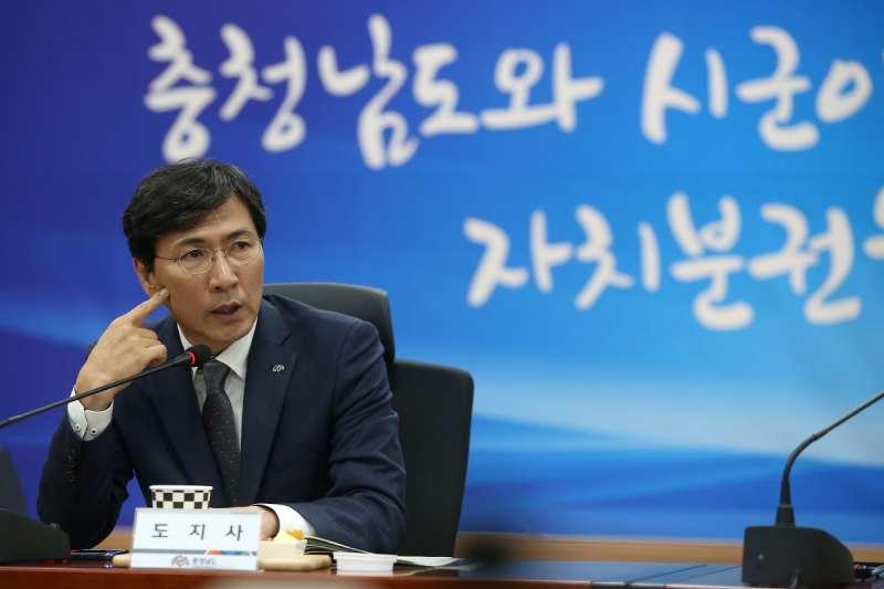 涉嫌性侵的忠清南道知事安熙正。
