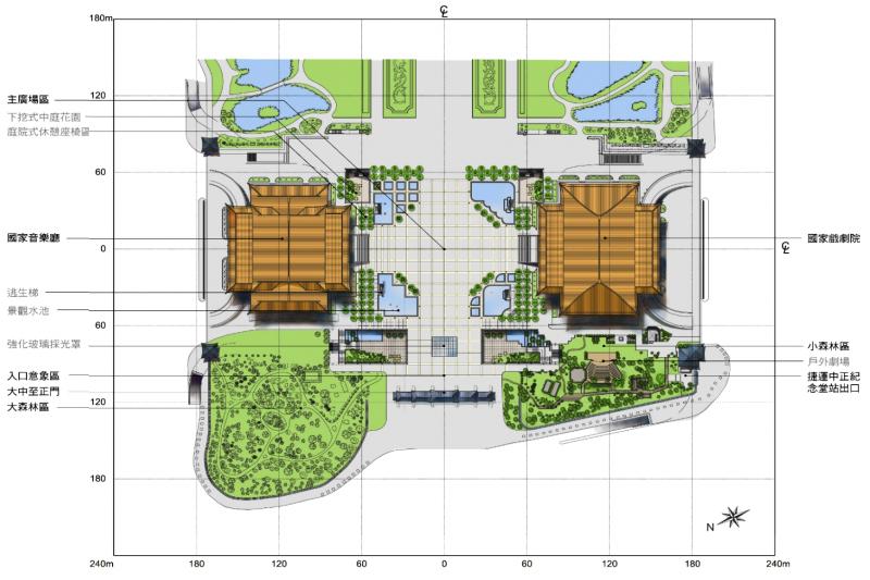 20180308-自由廣場戶外開放空間的規劃。(作者提供,取自黃承令建築師事務所)