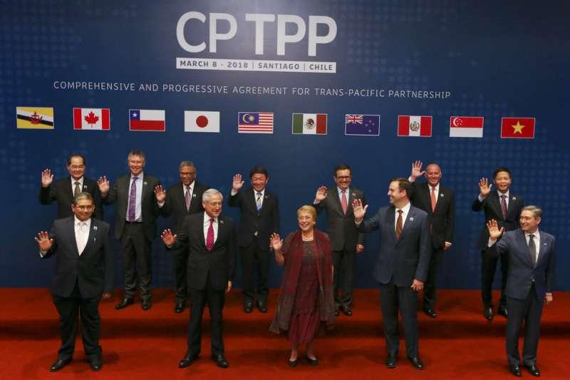 跨太平洋夥伴全面進展協定(CPTPP)11個會員8日在智利聖地牙哥簽署協定。(美聯社)