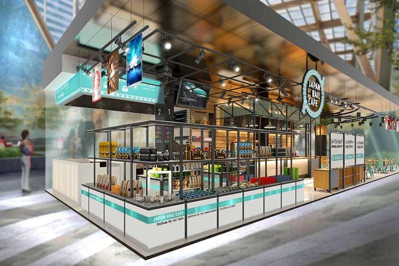 JR東日本預定4月在台北設立「JAPAN RAIL CAFE台灣店(暫稱)」,販售餐飲、鐵路套票,做為招攬台灣旅客的據點。(圖翻攝自/ JAPAN RAIL CAFE@facebook)
