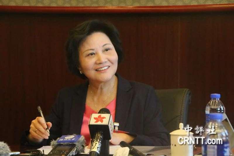 世界銀行首席經濟學家林毅夫的妻子陳雲英。(取自中評社)