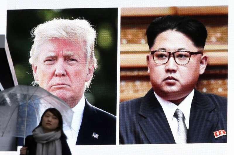 美國總統川普(右)與北韓最高領導人金正恩(左)預計於5月底之前舉行會談。(美聯社)