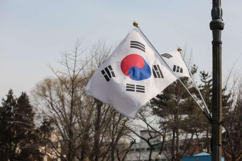 20180307-慰安婦專題,韓國首爾,青瓦台旁韓國國旗。(顏麟宇攝)