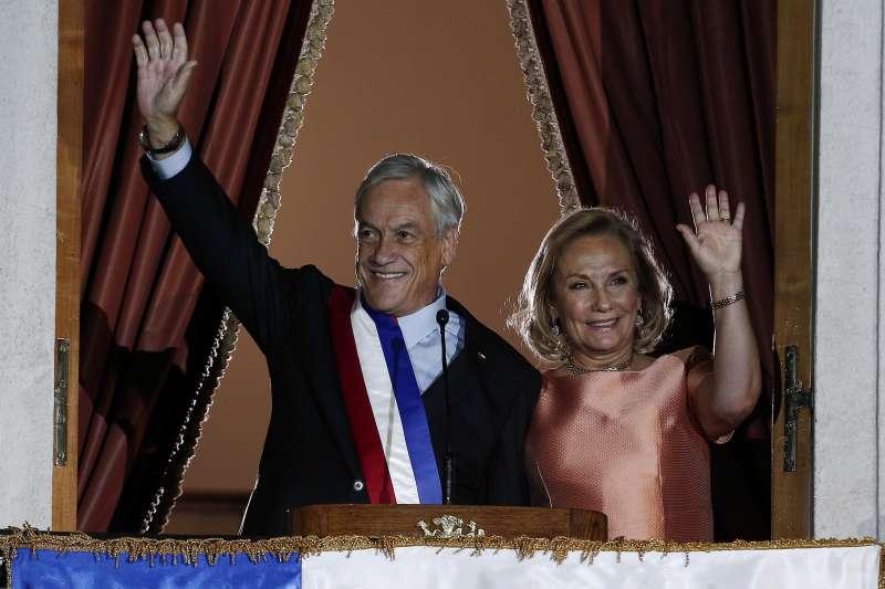 2018年3月11日,智利新任總統皮涅拉(Sebastián Piñera)就職(AP)