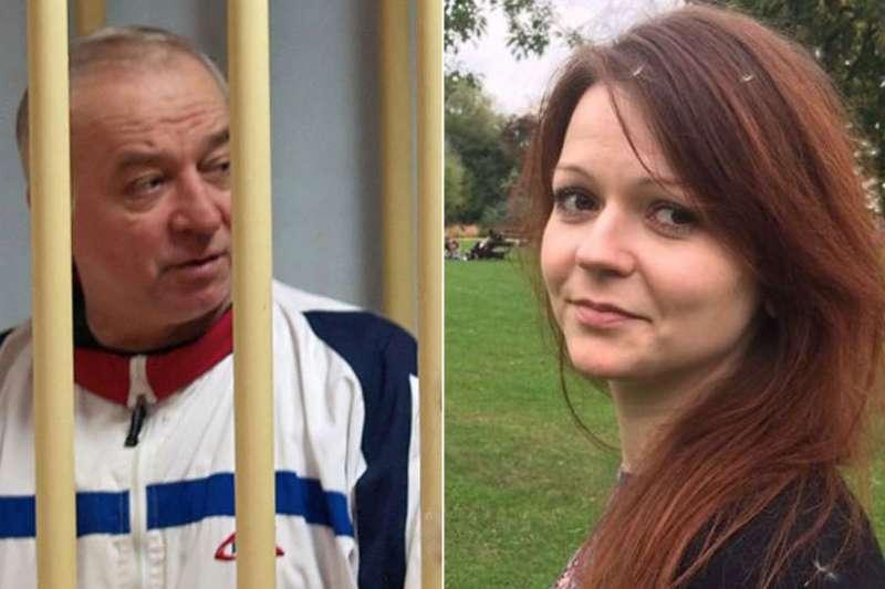 66歲的退休俄羅斯軍事情報官員斯克里帕爾和他33歲的女兒被發現癱倒在英國索爾茲伯里市中心的長椅上。(BBC中文網)