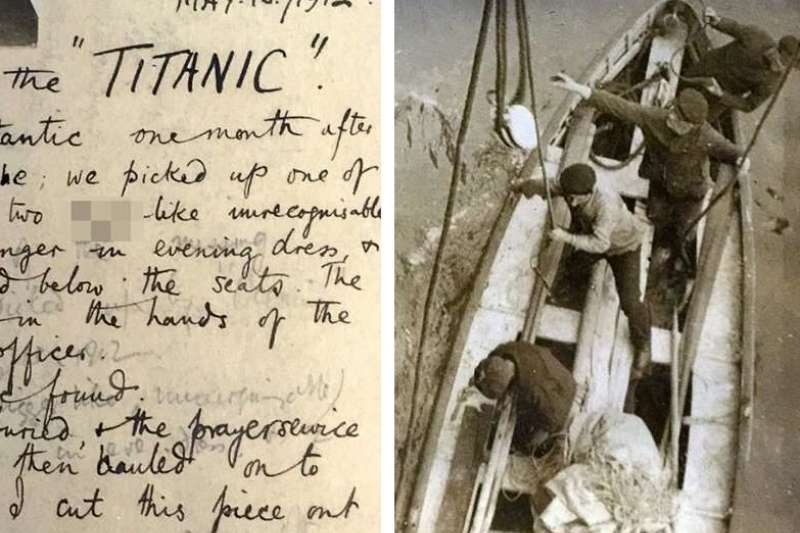 鐵達尼號的最後一艘救生艇,在沉沒一個月後,才被人發現,而發現的過程曾被拍攝下來,透過修復這些老照片,真相終於得以還原。(圖/言人文化提供)