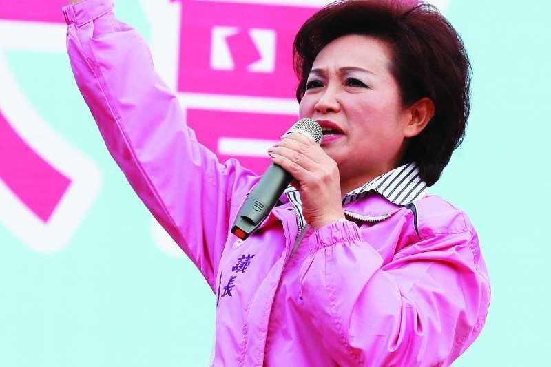 國民黨在嘉義市鬧家變,議長蕭淑麗脫黨參選。(林瑞慶攝)