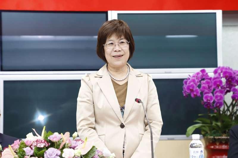 土地銀行董事長凌忠嫄於新春記者聯誼茶會致詞。(土銀提供)