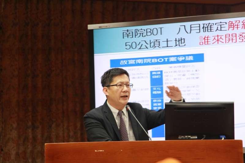20180314- 立法委員張廖萬堅質詢。(陳韡誌攝)