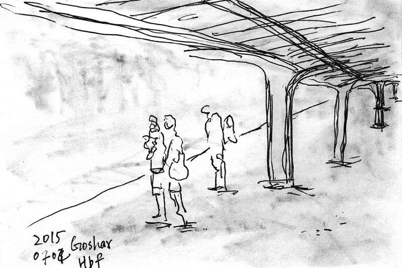 「火車在滿佈白雪的小鎮停站。」(東美書訊提供)