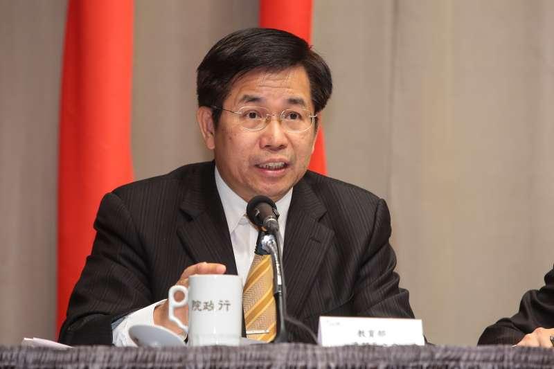 20180316-教育部長潘文忠16日針對大陸對台31項措施,出席行政院因應對策記者會。(顏麟宇攝)