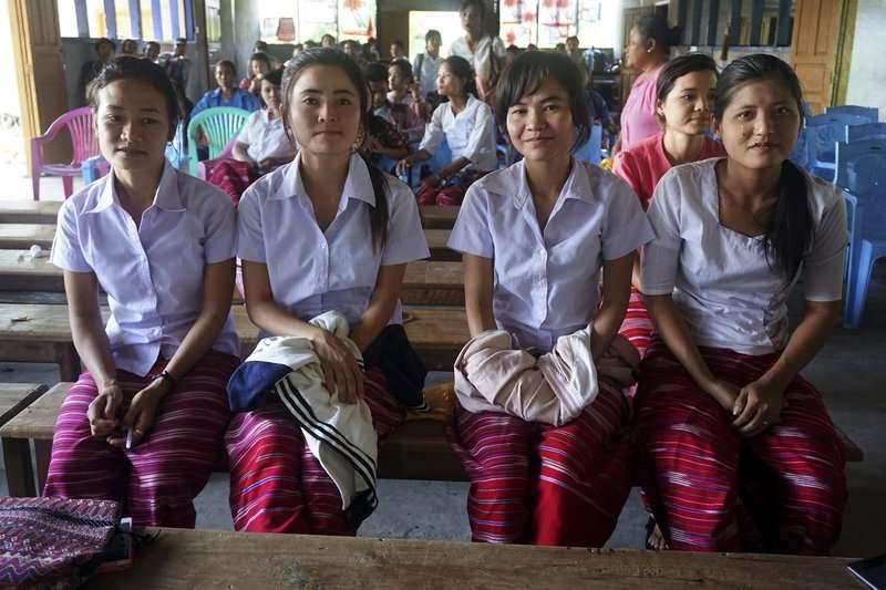 克倫邦(Karen State)內的克倫族女校,這所學校附設可容納200多名的宿舍,專門教授克倫語、英語以及緬語。(AP)