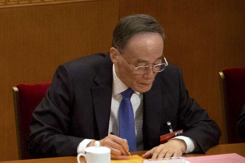 2018年3月18日,中國人大會議,王岐山(AP)